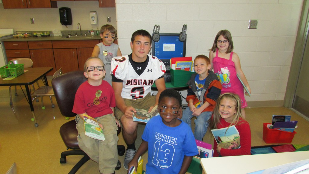 Pisgah Football Players Share Love of Reading at Bethel Elementary